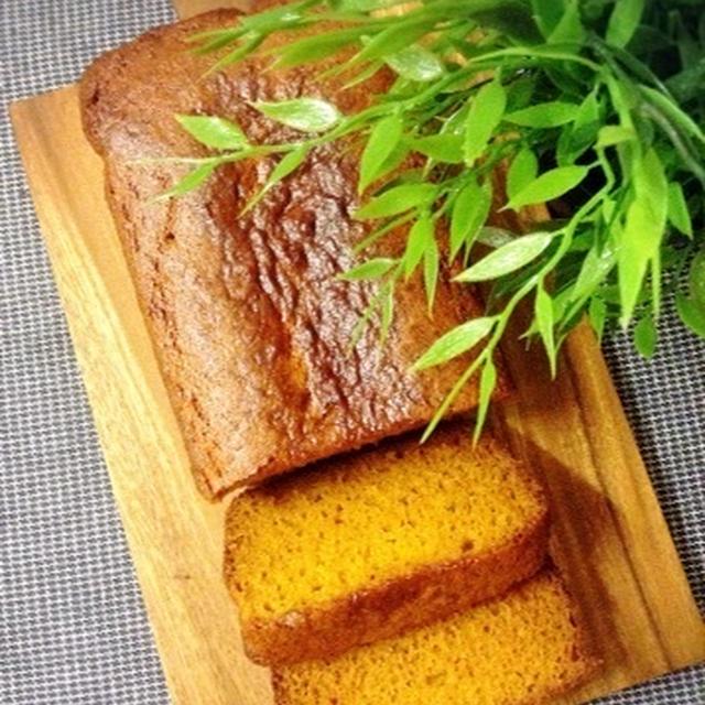 バター不使用!ヨーグルトと卵白でふわふわ♡かぼちゃのケーキ。