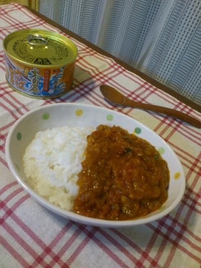 サバの味噌煮缶とトマトのカレー