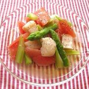 ホタテとグレープフルーツのサラダ