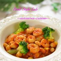 ホッと!温まる♡大豆と海老のチリコンカン♪