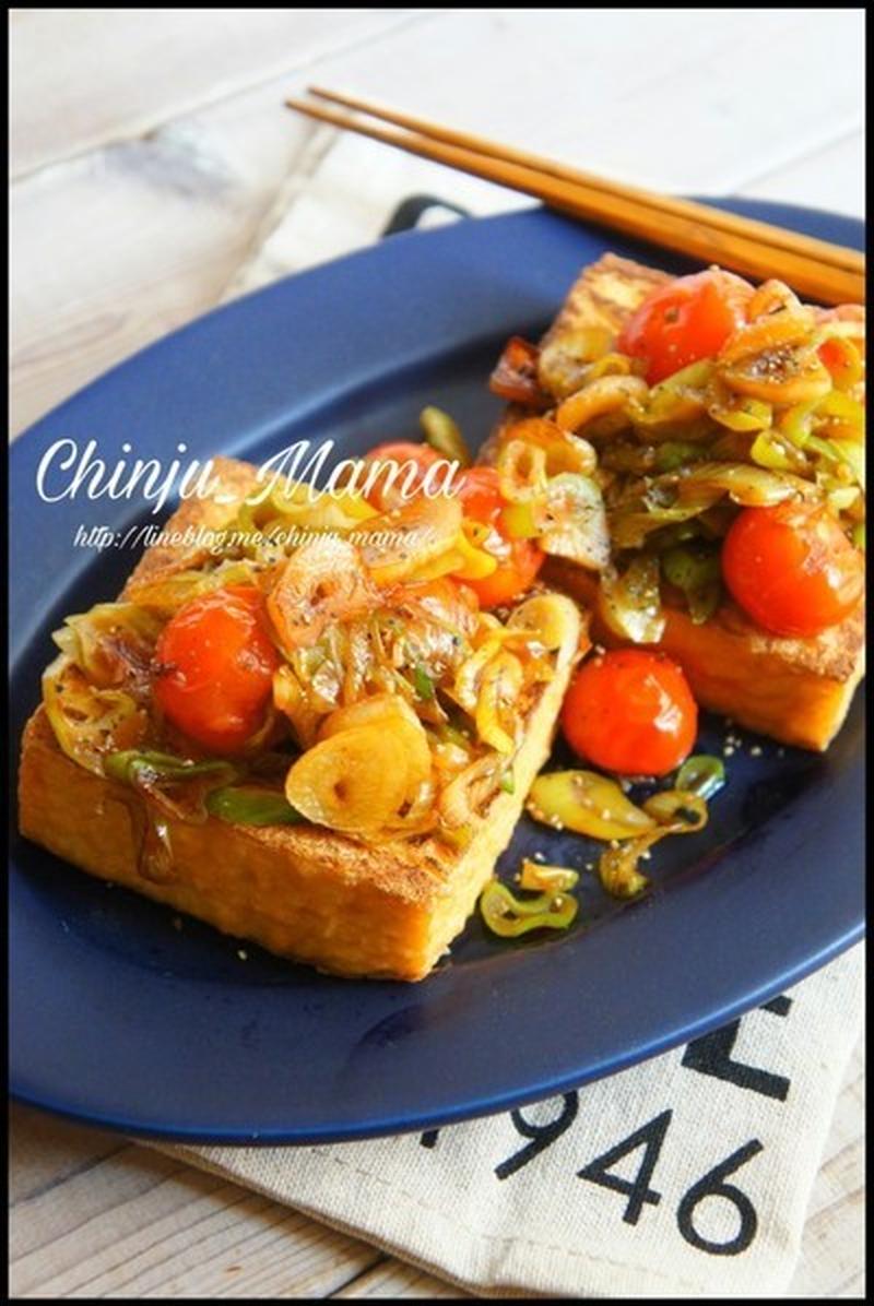 節約食材活用!ボリューム&おいしさバッチリの厚揚げのステーキ風レシピ
