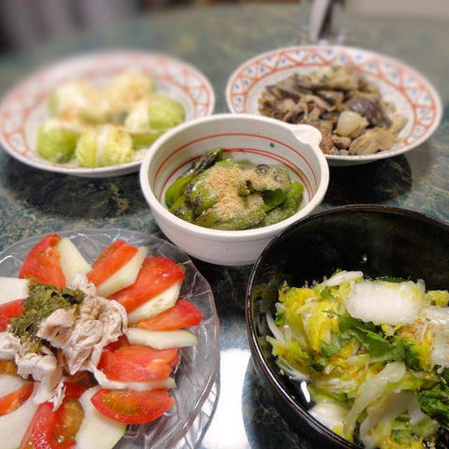 6月26日の献立☆ナスと舞茸の味噌炒め(炎の花椒編)他相変わらずの簡単料理5品と☆お知らせ2つ☆
