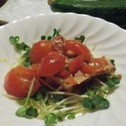 プチトマトとツナのマリネ 漬けとくだけです(^_-)-☆