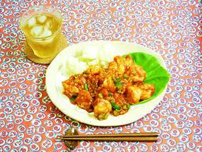 食べるラー油で作る!簡単えびのピリ辛炒め
