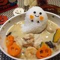 手羽元と里芋かぼちゃ♡きのこのシチュー★ハロウィンレシピ★ by とまとママさん