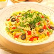 ツナと彩り野菜のフリッジパスタサラダ
