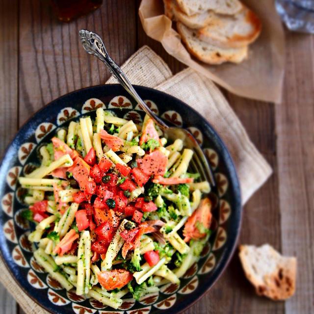 紅鮭とブロッコリーのカサレッチェ