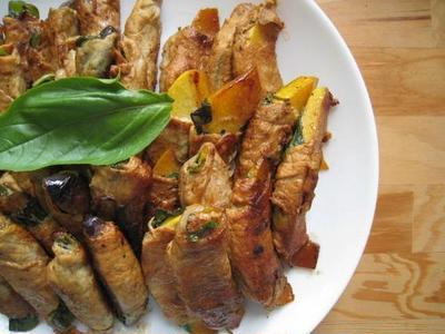 いろいろ野菜のバジル豚肉巻き