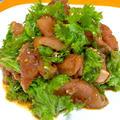 もどり鰹とわさび菜のベトナム風サラダ