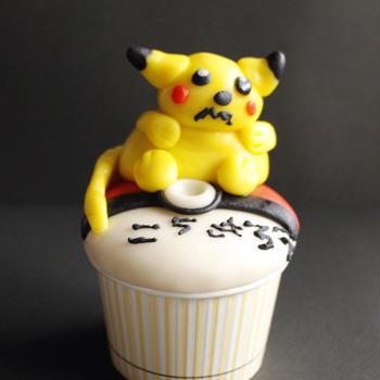 息子とポケモンカップケーキ!作りへ