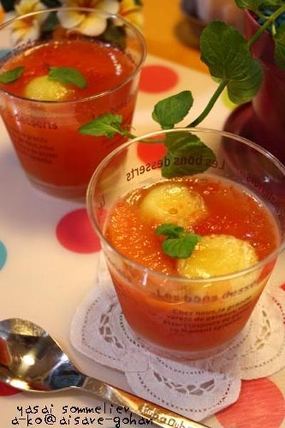 簡単!ひんやり♪「トマトのアガーゼリー」&アレンジのゼリーいろいろ^^