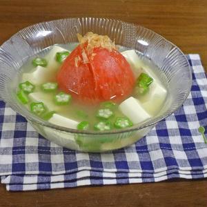 暑い時期でも食べやすい!オクラ入り「冷製スープ」
