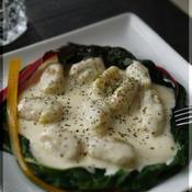 安納芋のニョッキ チーズ&ペパークリームソース