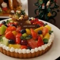 お菓子*メリークリスマス♪フルーツたっぷりタルト*