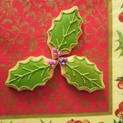 クリスマス*柊のアイシングクッキー