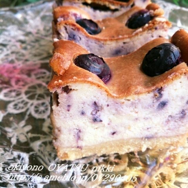 ベイクドブルーベリーチーズケーキとお土産。