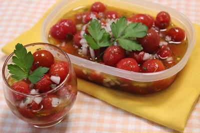 ミニトマトのマリネ【簡単!作り置き・節約・おつまみ・お弁当】