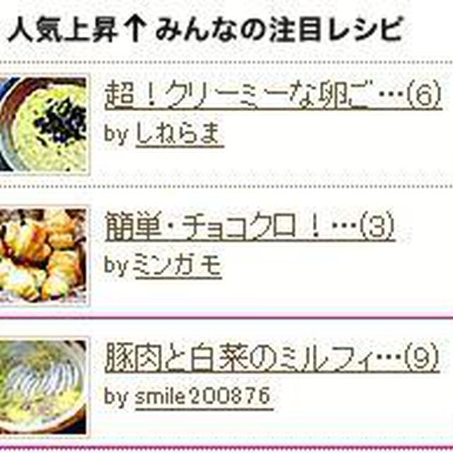 豚肉と白菜のミルフィーユ蒸し鍋 (人気上昇↑みんなの注目レシピ)