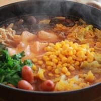 旨辛鮭の味噌ラー油鍋