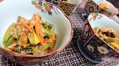 【レシピ】コク旨★一味違った美味しさ★簡単★アレンジ【アスパラとツナのオイスター金平】