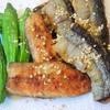 秋刀魚のピリ辛☆たっぷりガーリック添え
