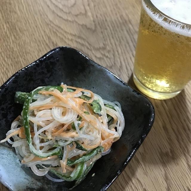 焼きピーマンを食す!! 「ピーマンと人参の胡麻ポン酢サラダ」