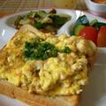 豆腐と卵のスクランブルトースト♡