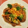 大豆ソーセージでベジタリアンの夕飯