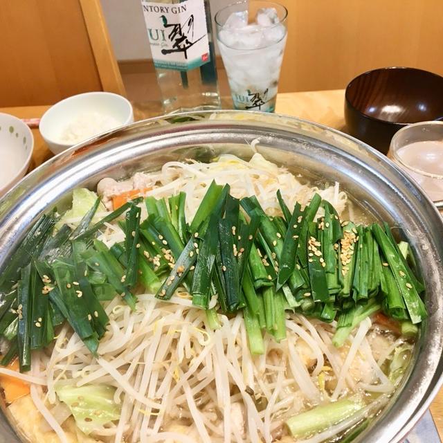 【もつ鍋】さわやか♪サントリージャパニーズジン翠と合う!