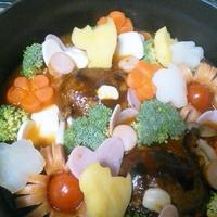 【KAGOME完熟トマト鍋】エセリラックマデコ鍋(笑)。