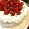 【チャレンジ☆】 苺と生クリームの簡単デコレーションケーキ