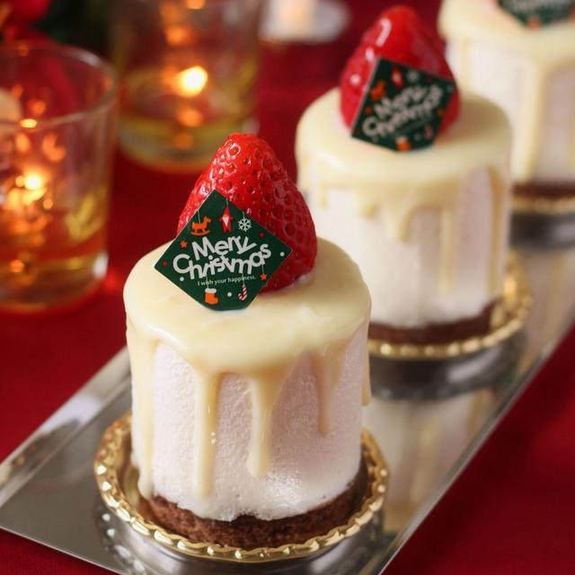 いちごのクリスマスキャンドルムース