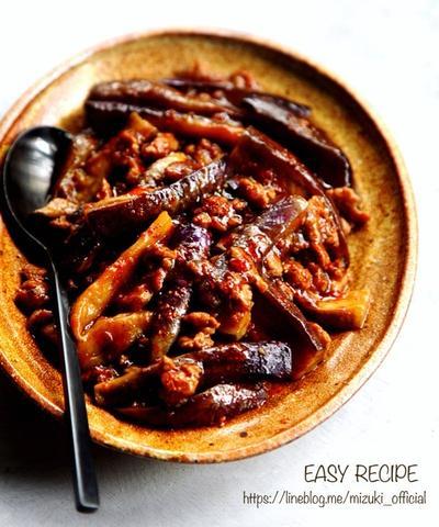 ♡超簡単失敗なし♡焼肉のたれde麻婆茄子♡【#時短#ひき肉#なす】