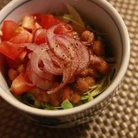 キャベツと納豆のイタリアンサラダ