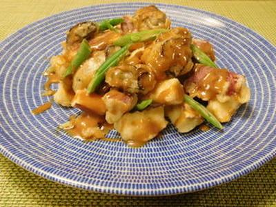 牡蛎とおさつのオイマヨソース