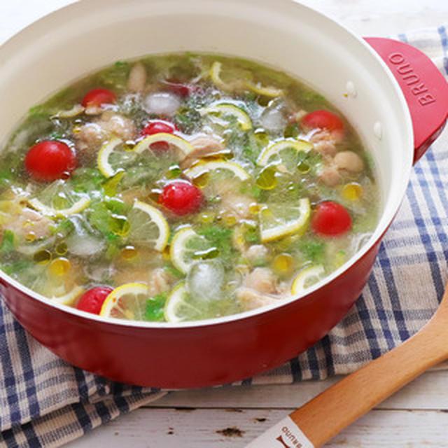レタスと鶏レモンの冷やし鍋