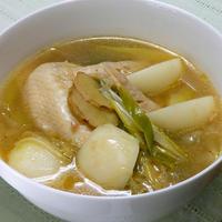 追いがつおつゆで簡単!旨みと香りと具もたっぷり、冬の熱々ねぎ生姜スープ。