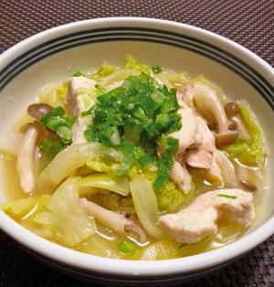 鶏むね肉と白菜の簡単煮