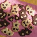 オリジナル白黒くまくまクッキー!