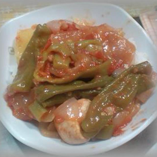 夏野菜のトマト煮丼 ~ 今日のひと品