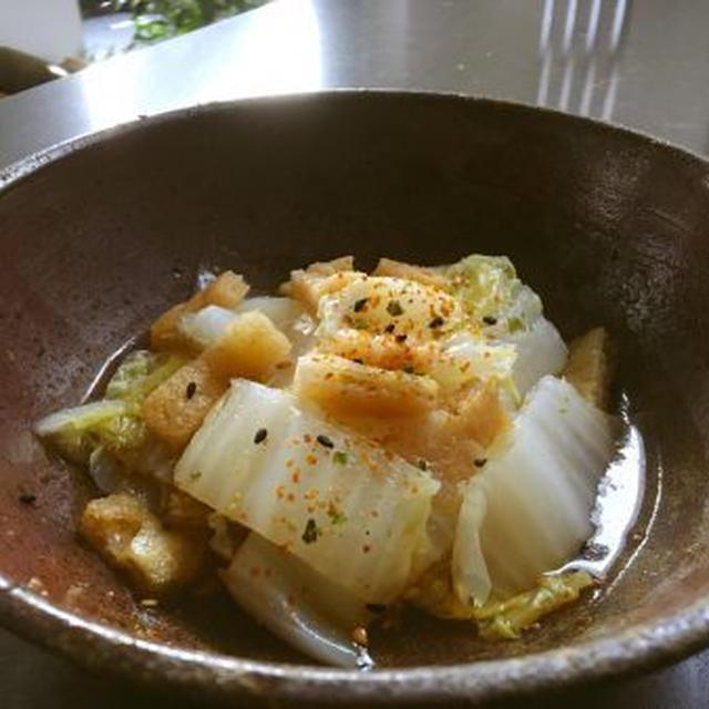 レンジで白菜と揚げのポン酢和え
