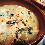 豆腐と青梗菜のふわ玉おかずスープ