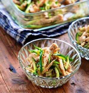 ♡レンジde簡単♡蒸し鶏きゅうり♡【#鶏むね肉#簡単レシピ#副菜#作り置き】