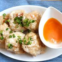 【簡単・鶏ひき肉】だしまろ酢で簡単!鶏つくねのさっぱり餡かけ