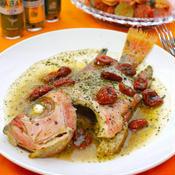 金時鯛とドライトマトのイタリアンハーブ煮込み