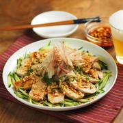 レシピブログ連載、鶏むね肉のよだれ鶏風電子レンジレシピ、ぽん酢蒸し鶏