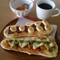 手作りナン♪ナンピザで朝ごはん~♪