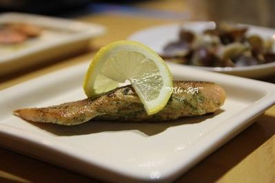 大葉ソースで銀鮭のムニエル♪