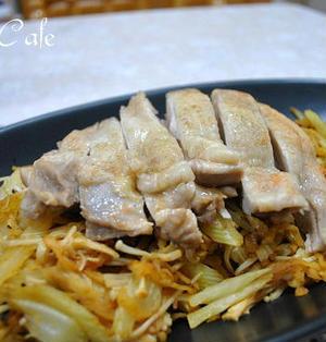 鶏肉と切り干し大根の野菜ジュース蒸し