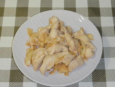 鶏胸肉のショウガ焼き